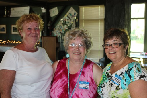 Ellen (Wagner) Hadden at the 2013 Merner Family Reunion with two of her cousins - Liz on the left and Marg on the right