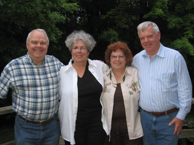 The Siblings - (l. to r.)  Ted Wagner, Mary Jane (Wagner) Richmond, Ellen (Wagner) Hadden, and Scott Wagner in June 2006