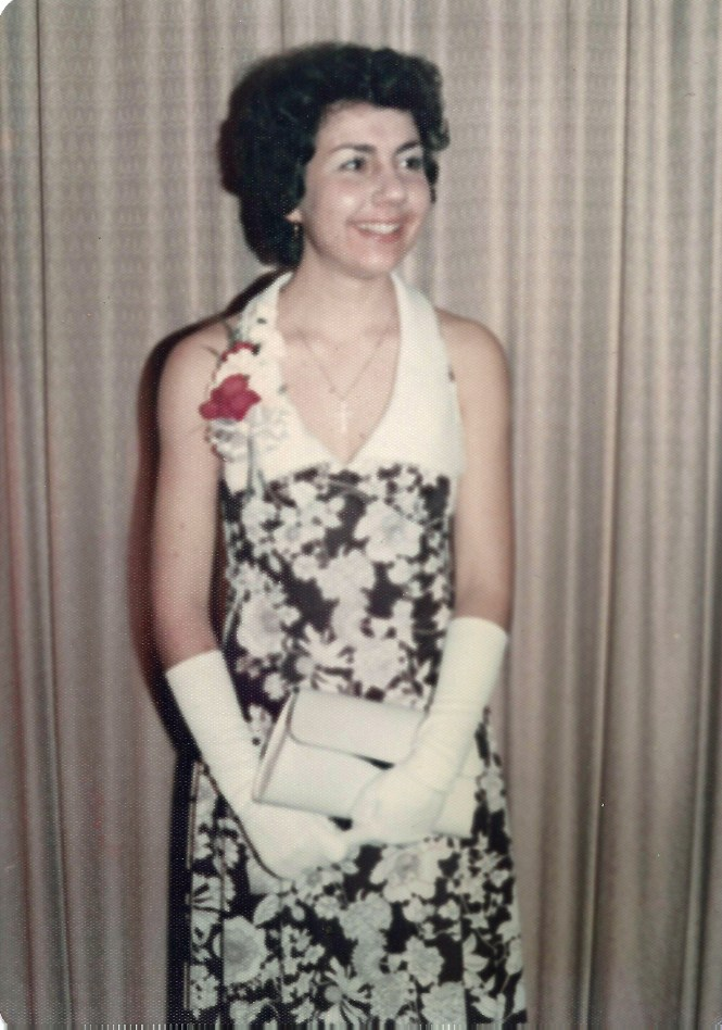 BENEDETTO Karen Ann - high school wine and white formal 1975