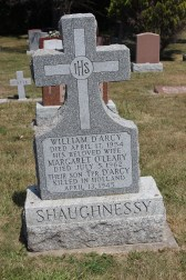 SHAUGHNESSY William DArcy Catherine and son gravestone St Francis Cemetery Ajax