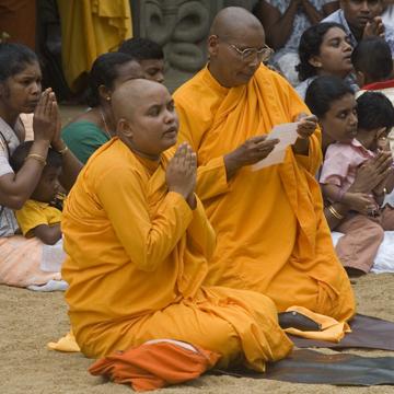 Female Monk at the KelaniTemple