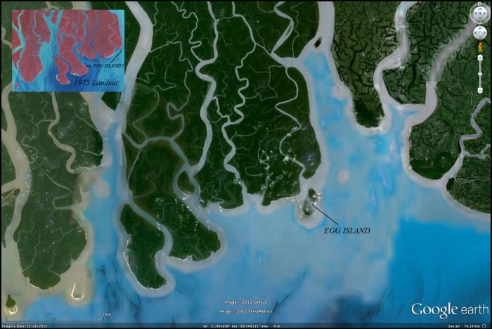 Egg Island (2011) Google Earth Image