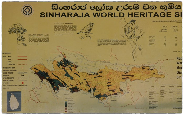 Forest Department map of Sinharaja