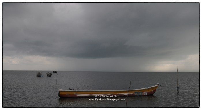 Monsoon storm approaching on the newly opened  Poonryn causeway.
