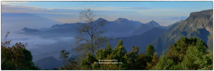 Agamalai range from the southern escarpment of the Palani Hills.