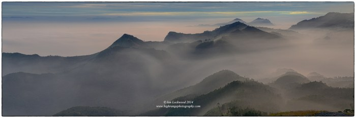 Looking west from Perumal Peak towards Kodai and the Agamlai range in the far distance.