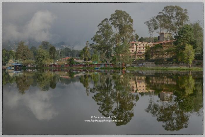 Kodaikanal lake reflection, December 2014.