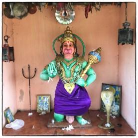 Hanuman kovil- an uncommon deiity. though mytholocially significant here, on the road from Mannar to Anurahapura.