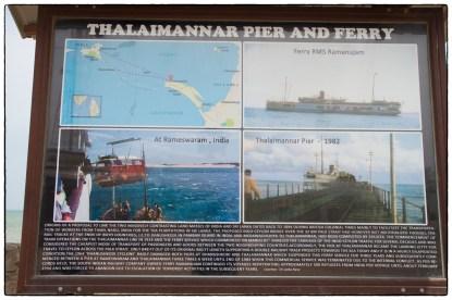 Signboard on the Talimanar pier.