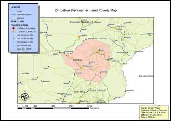 DP 1 Geography case study map of Zimbabwe by Jordan (OSC Class of 2019)