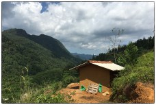 Home garden overlooking the Kudawa village valley.(May 2017).