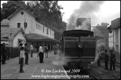Switching engines at Coonor station in the Nilgiris.