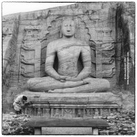 Gale Vihara seated Buddha photographed on medium format film with a Mamiya 6 in January 2006.