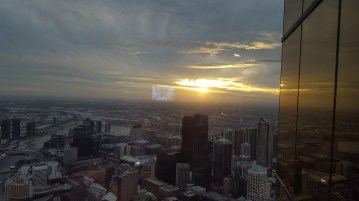 From the 88th floor of the Eureka Tower