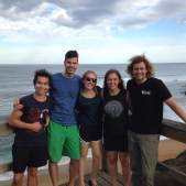 Our new Swedish friend and our instructor at the Bell's Beach overlook