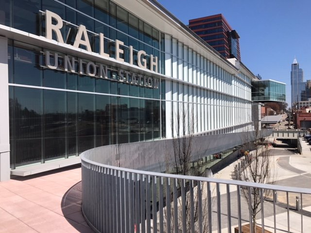 An exterior photo of the new Raleigh Union Station