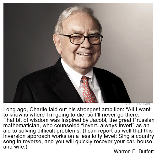 From 2009 Letter to the Berkshire Hathaway Investors