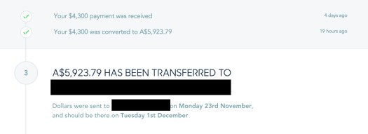 Transferwise Screenshot for Case Study