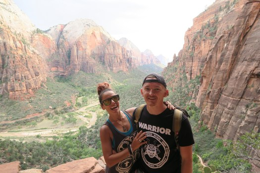 On the way to Angels Landing in Zion National Park