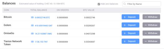 Liqui account balance - Crypto Currency Hedge Fund