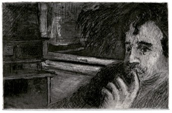 """""""Digital Analog 2"""" etching and drypoint. 2014. 2"""" x 3"""""""