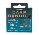 Carp Bandits Eyed Barbless Hooks To Nylon