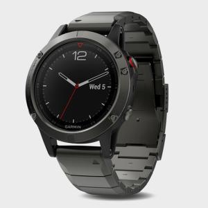 Garmin Fenix 5 Sapphire Multi-Sport Gps Watch With Metal Band - Black/Dg, Black/DG
