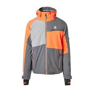 Dare 2B Men's Supercell Ski Jacket - Grey/Orange, Grey/Orange