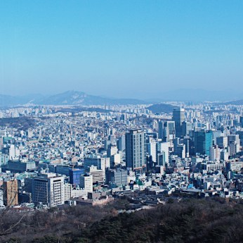 Photo taken while on the cable car going up to the N Seoul Tower.