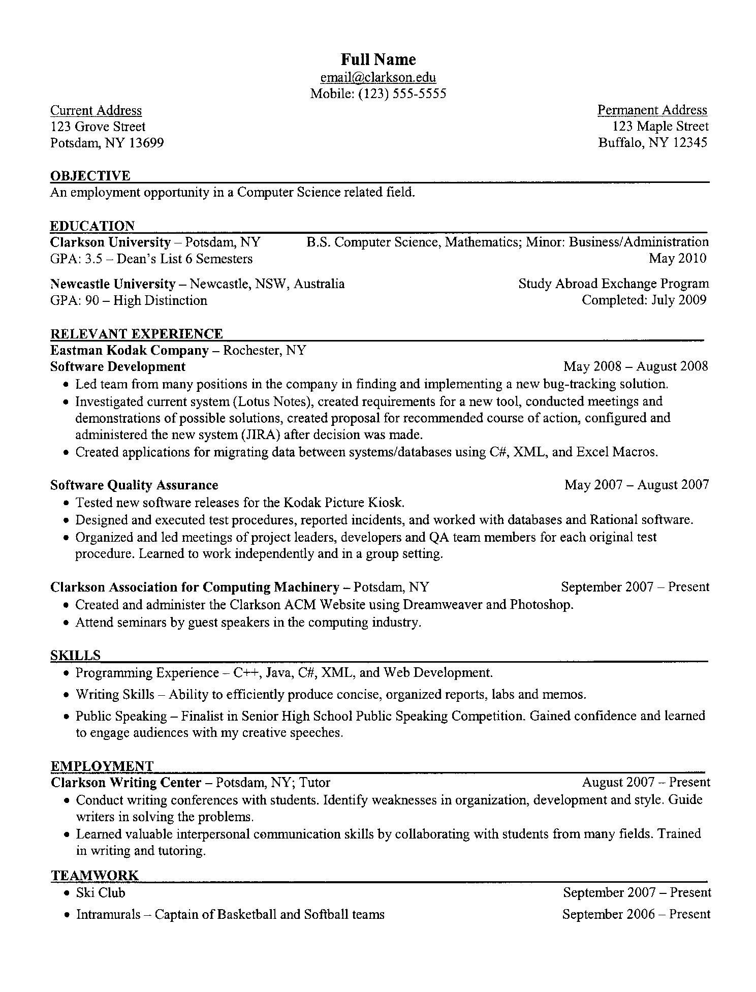 resume survey entry 3 i apologize for the bad spacing in example