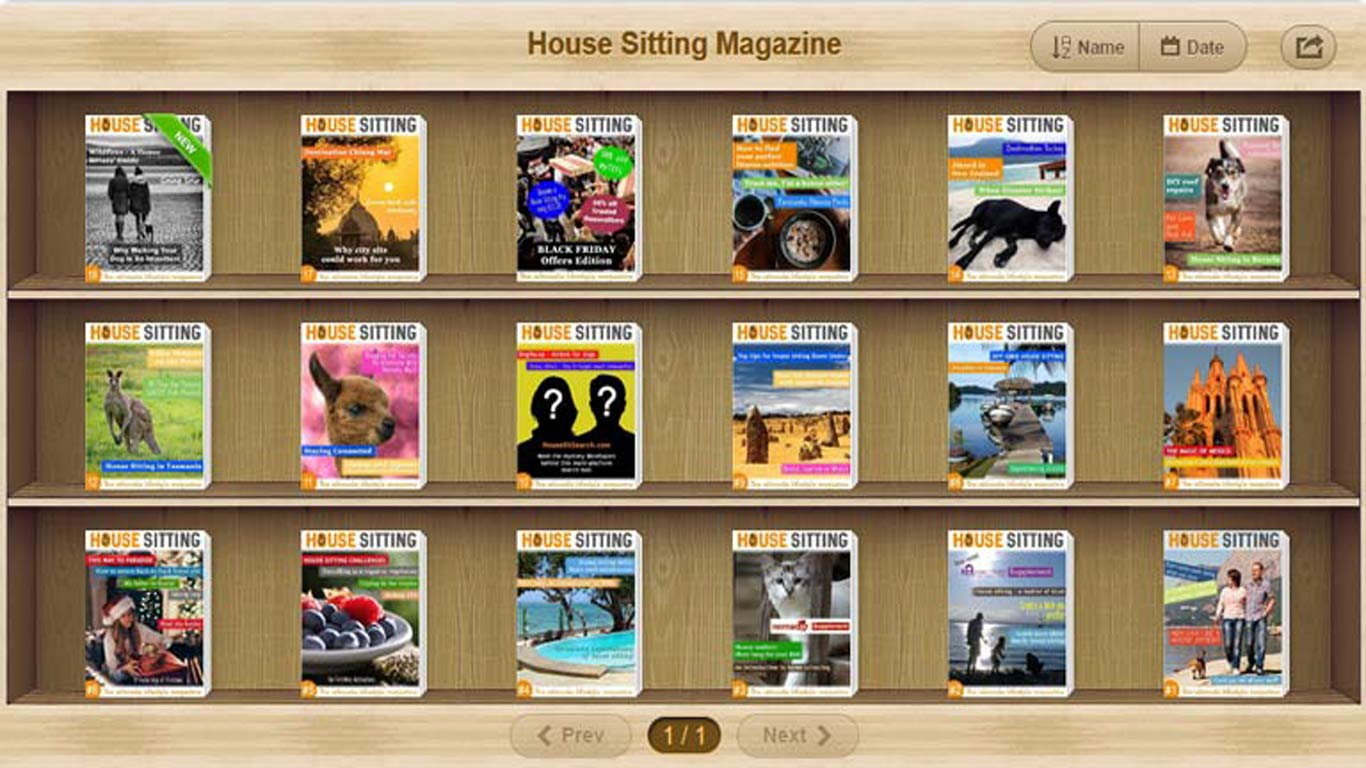 "Download Issue 1 of ""House Sitting Magazine"""