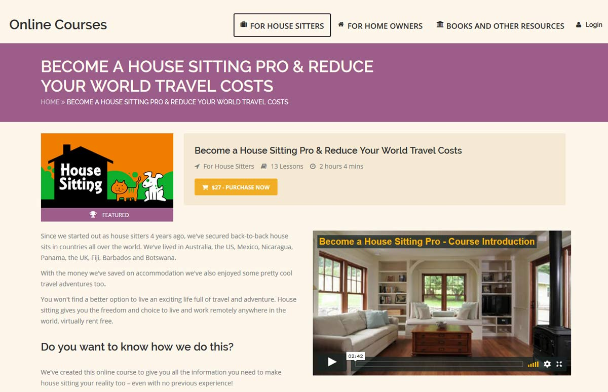 Become a House Sitting Pro