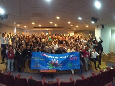 Inauguración de la semana de conmemoración del Día de Enfermedades Raras 2015, ciudad de México, FEMEXER, ISSSTE, Proyecto Pide un Deseo México, enfermedades poco frecuentes