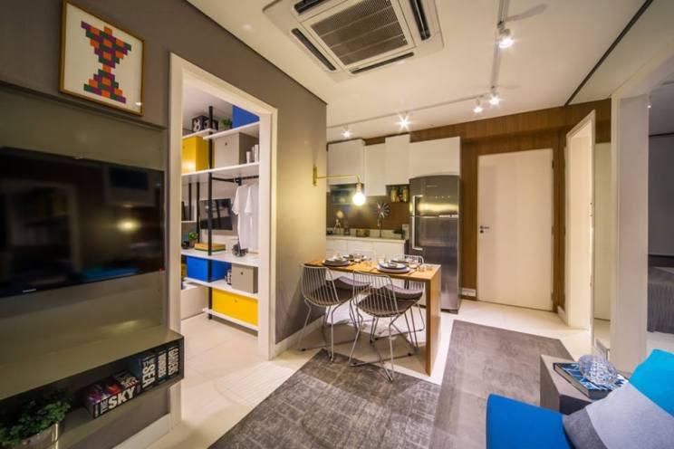 Tamanho de Apartamento Compacto pelo Minha Casa Minha Vida