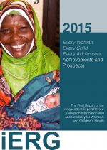 4th iERG report: Every Woman, Every Child, Every Adolescent: Achievements and Prospects