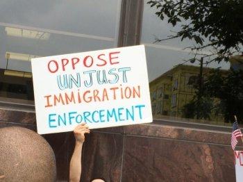 Sign Oppose Unjust Immigration Enforcement