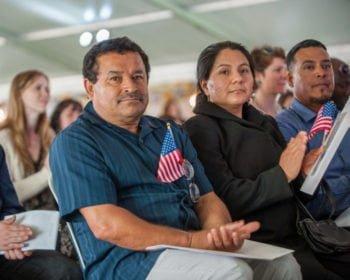 Citizenship ceremony Latinx male