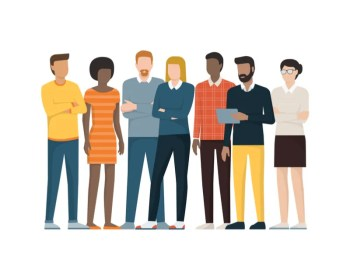 diversity people standing graphic