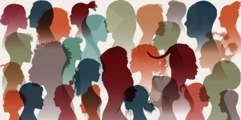 racial faces in silhouette