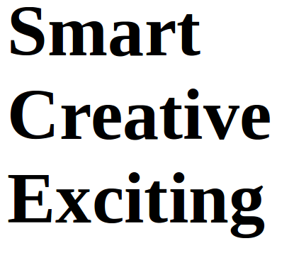 Smart Creative Exciting