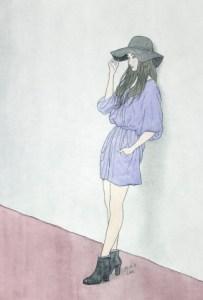 河野研二_2016_帽子の女-S