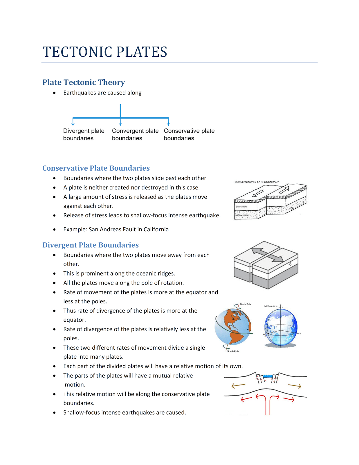 Tectonic Theory Simple Explanation Materials For Ias