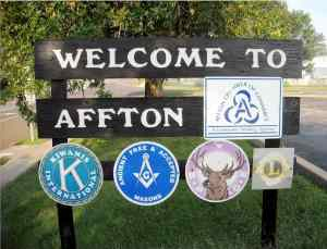 This is the sign you see when you enter Affton, MO.