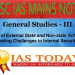 Role of external state and non state actors in creating challenges to internal security