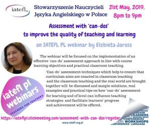 6th webinar – Assessment with 'can-dos' – to improve the quality of teaching and learning – Elżbieta Jarosz