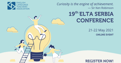 "ELTA Serbia  19th international conference ""Curiosity is the engine of achievement"" – 21-22 May 2021."