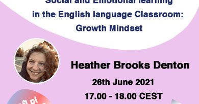 Social and Emotional learning in the English language Classroom: Growth Mindset  – a webinar by Heather Brooks Denton