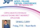 30th INTERNATIONAL IATEFL POLAND Virtual Conference Gold Partner  Cambridge University Press: Dr Niall Curry