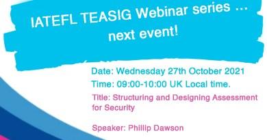IATEFL TEASIG Webinar series … next event!
