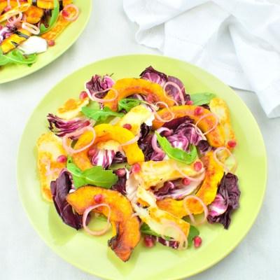 Acorn Squash & Grilled Halloumi Salad
